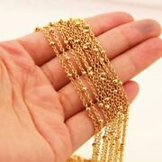 Men's Silver Gold Stainless Steel Cross Bead Chain Necklace Wholesale Jewelry