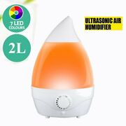 Color Changing Diffuser 7 Led Ultrasonic Essential Aromatherapy Humidifier 2l