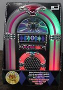 70s Classic Rock Tabletop Jukebox Musical Collectible Wurlitzer Illuminated New