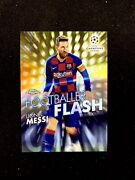 2019 Topps Chrome Ucl Lionel Messi Footballer Flash Gold 29/50