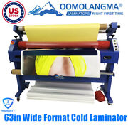 Us Stock Qomolangma 110v 63in Wide Format Cold Laminator And Mounting Machine