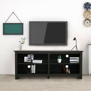 58 Wooden Tv Media Stand Tv Up To 65 Farmhouse Universal Stand W/storage Shelf