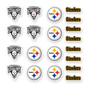 Pittsburgh Steelers Stickers Set Of 20 Decals By 1.5 Inches Vinyl Die Cut Car