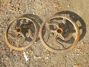 Large Antique Cast Iron Industrial Factory Gear Farm Wheel Pulley 19