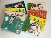 Lot Of 9 Dr. Suess Beginner Books Hardcover Green Eggs Cat In Hat One Fish Two