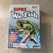 Wii Rapala We Fish Game And Fishing Rod And Reel + Game Fishing