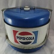 1970and039s Pepsi Cola Cake Taker Carrier Soda Advertising Collectible - Picnic