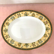 Wedgewood India Oval Serving Platter Multicolor Fine Bone China England Made Fs