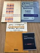Vintage How To Books, Flute, Piccolo, And Harmonica
