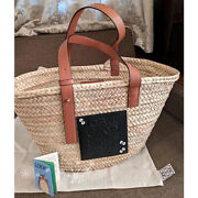Auth Loewe And Totoro Limited Collab Basket Bag Medium Size New F/s From Japan