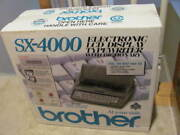 Brother Sx-4000 Electronic Lcd Display Typewriter With Dictionary