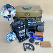 Beseler 4x5 Type C-6 Large Format Us Military Camera W/ 135mm Lens W/ Case
