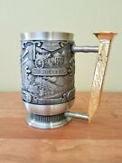 1988 Vintage Beer Stein Metal The Franklin Mint Very Limited Edition 6.5 In