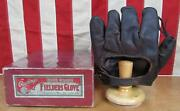 Vintage 1920s Rawlings Leather Baseball Glove Duster Mails Model G80 W/orig.box
