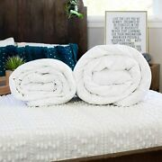 Silk-filled Duvets Summer + Spring/fall Combo Luxury Hand-finished All Sizes