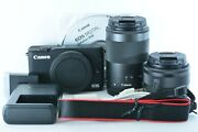 Canon Eos M10 Mirrorless Camera Kit Ef-m 15-45mm F/3.5-6.3 And Ef-m 55-200mm