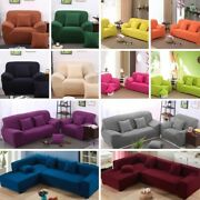 1 2 3 4 Seater Lshape Stretch Chair Loveseat Sofa Couch Cover Slipcover