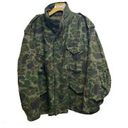 Vintage Us Military Cold Weather Field M65 Duck Camo Jacket Jungle Army Rare