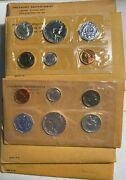 1956 To 1964 Proof Sets 13063 Ten Sets Includes 1960 Small And Large. Nice Sets