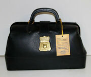 Schell Vintage Leather Doctor Bag With Lock Key