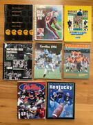 College Football Lot Of 8 Media Guides   Ole Miss+wv+nc+tenn+ky+southern Miss