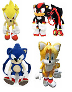 Sonic The Hedgehog Tails Shadow Super Sonic Doll Plush Backpack Kids Cute Gift