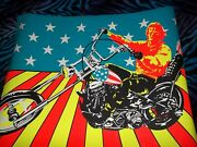 Vintage Large Black Light Poster Super Cycle With Peter Fonda In Easy Rider