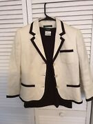 Auth. Cashmere Brown Sweater And Rl Linen Blazer Lot