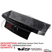 Vis Racing Carbon Fiber Oe Style Trunk Rear Deck Lid For 2010-2012 Ford Mustang