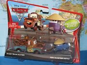Disney Pixar Cars 2 Race Team Mater And Zen Master Pitty 2 Pack Brand New