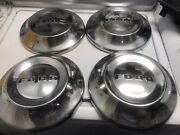 1952 53 54 Ford Dog Dish Hub Caps Excellent Used Vintage Hot Rod T-bucket F-1 55