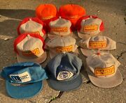 11 Garst Seed/adv. Damaged K Brand/product Snapback Patch Hats- Made In Usa