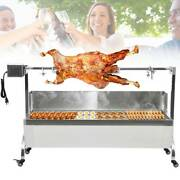 Large Spit Roaster Rotisserie Pig Lamb Roast Bbq Grill Portable Picnic Outdoor