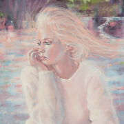 Pensive By Anthony Sidoni 1991 Signed Oil On Canvas 18x24