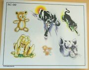 2002 Don Nolan Spaulding And Rogers Color Tattoo Flash Sheet Nc-99 Panther Teddy