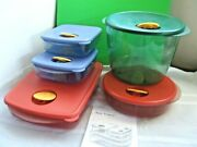 Tupperware Lot Rock N Serve Acrylic Microwave Bowls 4 Different Sizes Used Lot