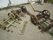 Antique Cast Iron Clipper Lawn Mower And Parts