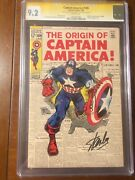 Captain America 109 1/69 Cgc 9.2 Ss Stan Lee And Simon White Pages Super Nice
