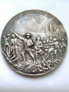 Medal Of The Centennial Independence Of Mexico 1910 Silver Damage By Flat File