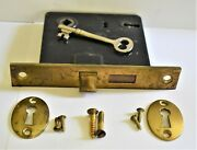 Antique Corbin Mortise Privacy Door Locks With Keys And Brass Faceplates Works