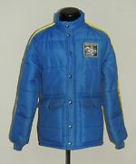 Vtg Swingster M Jacket Coat Usa Gas Puff Michelin Racing Oil Tires 1970s Htf Guc
