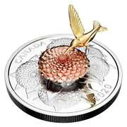 5 Oz. Pure Silver Coin - The Hummingbird And The Bloom - Mintage 1250 2020