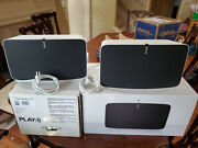 1 Pair Sonos Play 5 Gen 2 White - Perfect Condition 2 Total Speakers