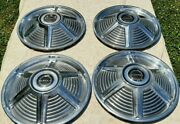 Ford Mustang Hubcaps 1965 - 1966 Vintage 14 Wheel Cover Hub Caps Set Of 4