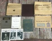 Amazing Lot Of Nos 1920s Victrola Victor Talking Machine Mailer Brochures And More