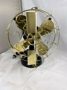 Very Nice Fully Restored 12andrdquo Westinghouse Brass Blade And Cage Vane Fan