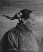 Vintage 1885 Photograph Reprinted 1970 Of A Chinese Woman.