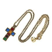 Necklace Chain Small Cross Gg Marmont Multi Color Gold Metal Authentic