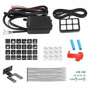6 Gang Switch Panel Electronic Relay System Led Work Light Bar Waterproof 12/24v