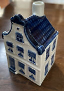Rare Vintage Klm Holland Blue Delftand039s House 5 Ashtray Collectible Empty